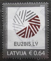 Poštovní známka Lotyšsko 2015 Prezidentství v Radì Evropy Mi# 928