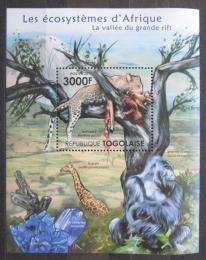 Poštovní známka Togo 2011 Fauna afrického pøíkopu Mi# Block 650 Kat 12€