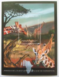 Poštovní známka Guinea 2012 Fauna západní Afriky, žirafy Mi# Block 2074 Kat 18€