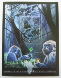 Poštovní známka Guinea 2012 Fauna západní Afriky, gorily Mi# Block 2075 Kat 18€