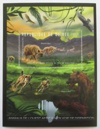 Poštovní známka Guinea 2012 Fauna západní Afriky, hyeny Mi# Block 2077 Kat 18€
