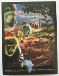 Poštovní známka Guinea 2012 Fauna západní Afriky, opice Mi# Block 2078 Kat 18€