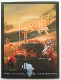 Poštovní známka Guinea 2012 Fauna západní Afriky, impaly Mi# Block 2081 Kat 18€