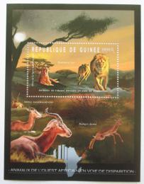Poštovní známka Guinea 2012 Fauna západní Afriky, lvi Mi# Block 2083 Kat 18€