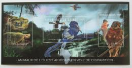 Poštovní známky Guinea 2012 Fauna západní Afriky Mi# 9182-84 Kat 10€