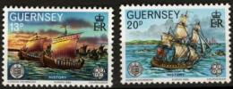 Poštovní známky Guernsey, Velká Británie 1982 Evropa CEPT, plachetnice Mi# 246-47