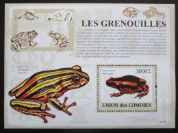 Poštovní známka Komory 2009 Žáby Mi# Block 481 Kat 15€