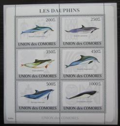 Poštovní známky Komory 2009 Delfíni Mi# 2198-2203 Kat 13€