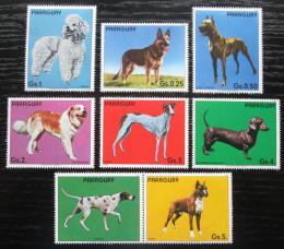 Poštovní známky Paraguay 1984 Psi s kupónem Mi# 3709-15