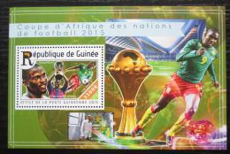 Poštovní známka Guinea 2015 Africký pohár, fotbal Mi# Block 2527 Kat 14€