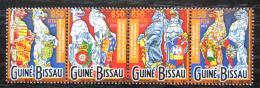 Poštovní známky Guinea-Bissau 2015 Britské zvíøecí erby Mi# 7900-03 Kat 14€