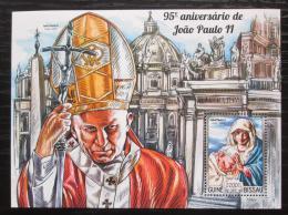 Poštovní známka Guinea-Bissau 2015 Papež Jan Pavel II. Mi# Block 1337 Kat 8.50€