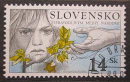 Poštovní známka Slovensko 2001 Spravedlnost mezi národy Mi# 405