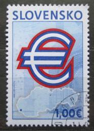 Poštovní známka Slovensko 2009 Pøijetí Eura Mi# 596