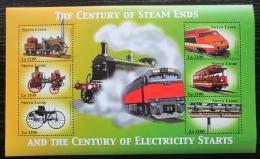 Poštovní známky Sierra Leone 2002 Konec století páry Mi# 4157-62 Kat 11€