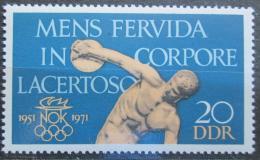 Poštovní známka DDR 1971 Národní olympijský výbor, 20. výroèí Mi# 1660