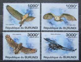 Poštovní známky Burundi 2011 Sovy Mi# 2094-97 Kat 9.50€
