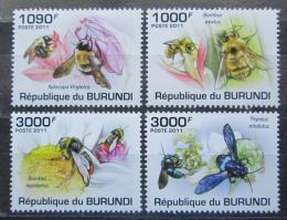 Poštovní známky Burundi 2011 Vèely Mi# 1998-2001 Kat 9.50€