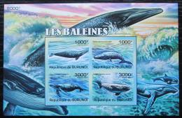 Poštovní známky Burundi 2011 Velryby neperf. Mi# Block 159 B