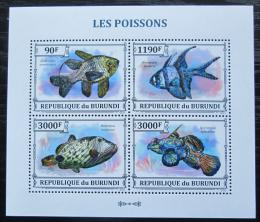 Poštovní známky Burundi 2011 Ryby Mi# 3218-21 Kat 8.90€