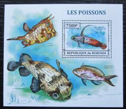 Poštovní známka Burundi 2011 Ryby Mi# Block 368 Kat 9€