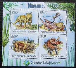 Poštovní známky Burundi 2012 Dinosauøi Mi# 2555-58 Kat 10€