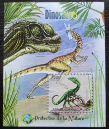 Poštovní známka Burundi 2012 Dinosauøi Mi# Block 235 Kat 9€