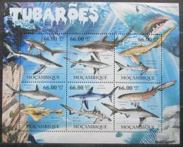 Poštovní známky Mosambik 2011 Žraloci Mi# 5337-42 Kat 23€