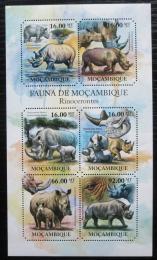 Poštovní známky Mosambik 2011 Nosorožci Mi# 4980-85 Kat 12€