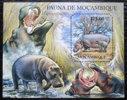 Poštovní známka Mosambik 2011 Hroch obojživelný Mi# Block 513 Kat 10€