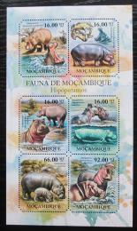 Poštovní známky Mosambik 2011 Hroch obojživelný Mi# 4973-78 Kat 12€