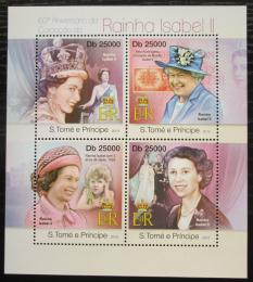 Poštovní známky Svatý Tomáš 2013 Královna Alžbìta II. Mi# 4991-94 Kat 10€