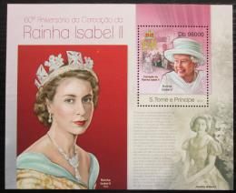 Poštovní známka Svatý Tomáš 2013 Královna Alžbìta II. Mi# Block 856 Kat 10€