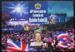 Poštovní známka Guinea-Bissau 2013 Královna Alžbìta II. Mi# Block 1187 Kat 12€