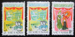Poštovní známky Vietnam 1984 Pøátelství s Kambodžou Mi# 1488-90 Kat 10€