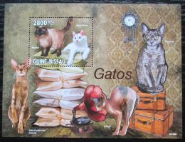 Poštovní známky Guinea-Bissau 2010 Domácí koèky Mi# Block 744 Kat 11€