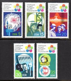 Poštovní známky DDR 1973 Mezinárodní hry mládeže Mi# 1862-66