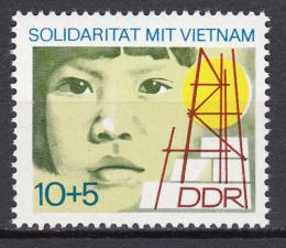 Poštovní známka DDR 1973 Pomoc Vietnamu Mi# 1886