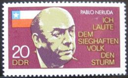 Poštovní známka DDR 1974 Pablo Neruda Mi# 1921