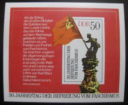 Poštovní známka DDR 1975 Osvobození, 30. výroèí Mi# Block 42
