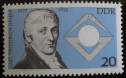 Poštovní známka DDR 1977 Carl Friedrich Gauß, astronom Mi# 2215