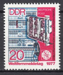 Poštovní známka DDR 1977 Svìtový den komunikace Mi# 2223
