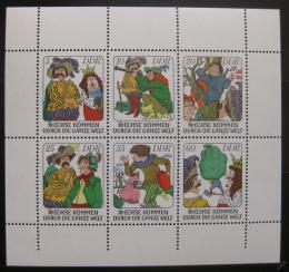 Poštovní známky DDR 1977 Pohádky bratøí Grimmù Mi# 2281-86 Bogen