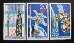 Poštovní známky DDR 1978 Vesmírný program Interkosmos Mi# 2310-12