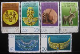 Poštovní známky DDR 1978 Staré africké umìní Mi# 2330-35