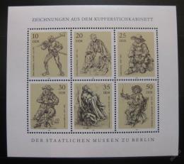 Poštovní známky DDR 1978 Kresby Mi# 2347-52 Bogen