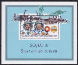 Poštovní známka DDR 1978 Prùzkum vesmíru Mi# Block 53
