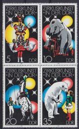 Poštovní známky DDR 1978 Cirkus Mi# 2364-67 Kat 8€