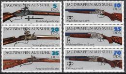 Poštovní známky DDR 1978 Lovecké zbranì Mi# 2376-81