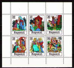 Poštovní známky DDR 1978 Pohádky bratøí Grimmù Mi# 2382-87